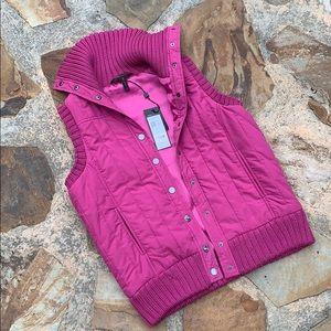 BCBGMAXAZRIA vest puffer pink purple Jacket S